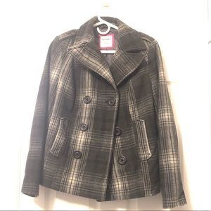 Old Navy Plaid Peacoat